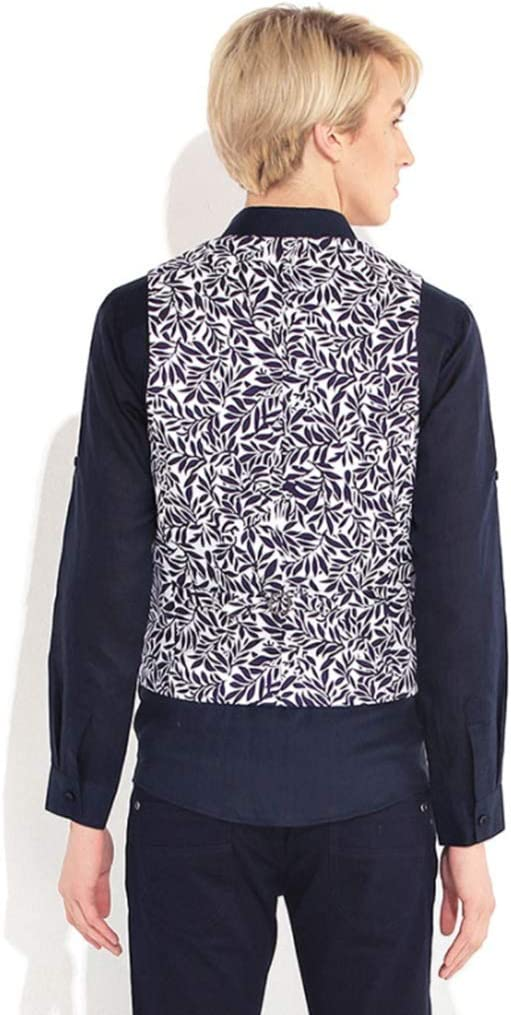 Vests Men/Clothing/Jackets & Coats Blue Printed Suit Men's Slim Suit Fashion Casual Sleeveless Evening Dress Fashion Trend (Color : Blue, Size : M)