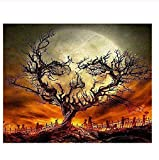 Classic Jigsaw Puzzle 1000 Pieces Adult Puzzles Wooden Puzzles Halloween Night Landscape DIY Modern Wall Art Home Decor 75X50Cm