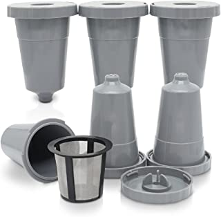 6 Pack Reusable Coffee Filter for Keurig Brewers Universal Fit, Refillable Single Cup Coffee Capsule Filter Pod