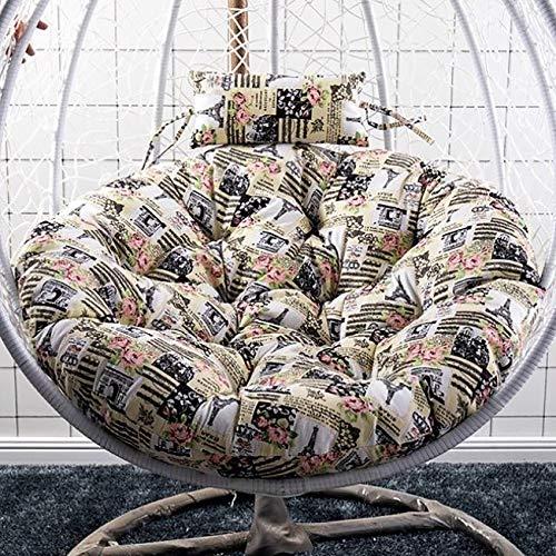 HUHAA Hanging Basket Cushion, Cojín De Cesta Colgante Exterior Cesta Colgante Cojines para Silla con Almohada para la Cabeza