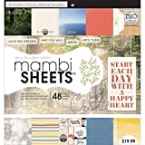 me & my BIG ideas Encouraging Words Mambi Sheets, 12-Inch by 12-Inch