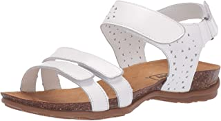 Propét Women's Farrah Sandal, White, 9 X-Wide