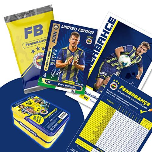 Fenerbahce Istanbul Original lizenzierte 48 Spielerkarten Sammelkarten mit Orig. Unterschriften Fußballkarten Saison 2019/20 Fanartikel Set mit Geschenkbox FB