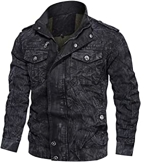 Beautyfine Men's Coat Clothing Jacket Military Clothing Tactical Outwear Breathable Overcoat