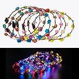 FunPa Led Blumenkranz, Garland Stirnband Dekorative Leucht 10 LEDs Böhmen Blume Stirnband...