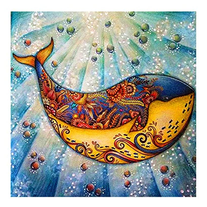 DCIDBEI 5D Diamond Painting Kit,5d Crystal Diamond Painting Cartoon Dolphin Rhinestone Embroidery Cross Stitch Kits Supply Arts Craft Canvas Wall Decor Stickers Home Decor 12x12 inches