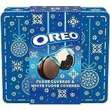 Oreo [Fudge &] White Fudge Covered Chocolate Sandwich Cookies Holiday Gift Tin, Original Flavor...