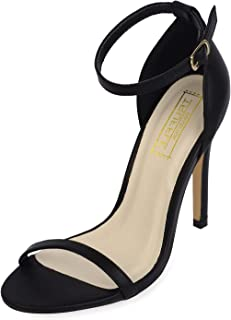 TRUFFLE COLLECTION Women's Black Synthetic Fashion Sandals