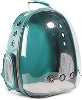 AUOKER Pet Carrier Backpack Airline Approved, Portable Pet Carrier Space Capsule Backpack with Transparent/Bubble Window for Pets Dogs Cats Rabbits Traveling, Strolling - Safe & Breathable