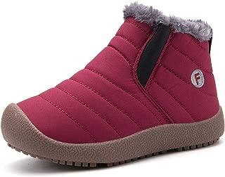 WALUCAN Boy's Girl's Classic Waterproof Outdoor Strap Winter Boots (Toddler/Little Kid/Big Kid)