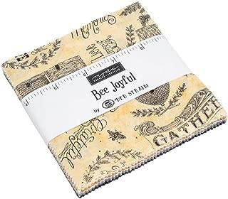 Bee Joyful Charm Pack by Deb Strain; 42-5 Inch Precut Fabric Quilt Squares