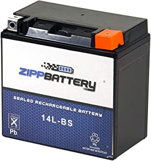 Chrome Battery 14L-BS High Performance Power Sports Battery - Replacement for Motorcycle, AGM