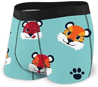 Men's Boxer Briefs Hip Underwear With Comfort Waistband Vector Flower Seamless Pattern