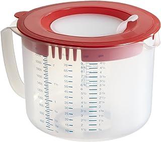 Dr Oetker 1803 Bol doseur et mélangeur 2,2l, Plastique, Rouge, Transparent