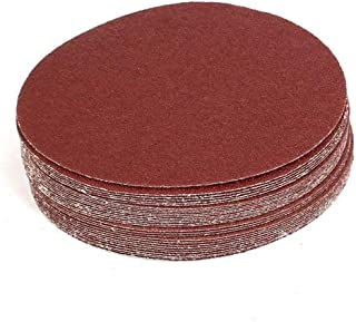 Cyful 30 Pcs 7-Inch Sandpapers Sand Discs Hook and Loop Grinding Polishing for Random Orbit Sander (40 Grit)