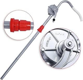 Bomba trasvase Giratorio, Bomba tambor del Barril manual trasvase aceite manivela aleación de Aluminio bombeo del Combustible Gasolina para el producto del petróleo