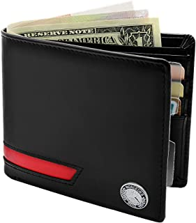Kanuoc Mercedes Benz Bifold Wallet With 8 Credit Card Slots And 2 ID Cards Window Wallet Gift For Men