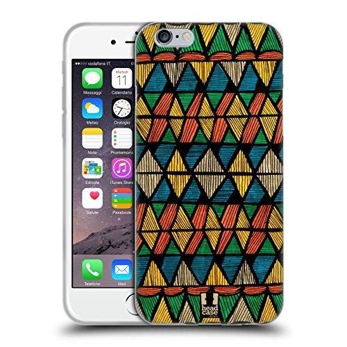 Head Case Designs Stampa Azteca Linee Etniche Cover in Morbido Gel e Sfondo di Design Abbinato Compatibile con Apple iPhone 6 / iPhone 6s