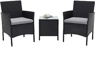 metal and rattan garden furniture