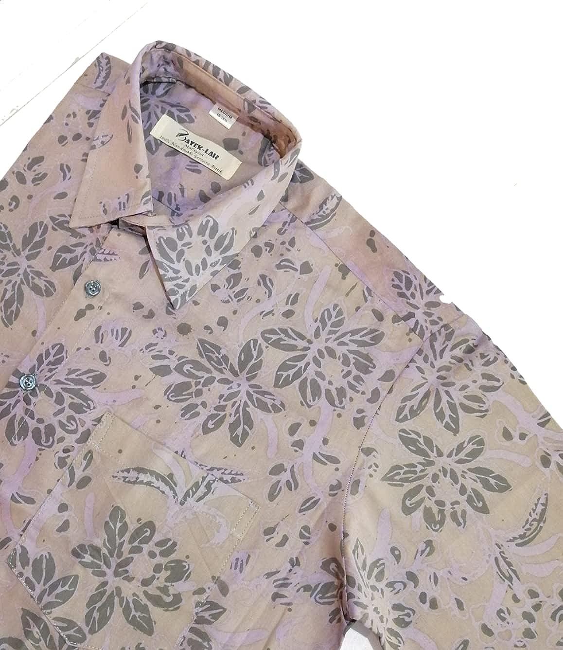 Men Shirt (S Size) Short Sleeve Shirt - Summer Cotton Shirt - Smart Casual Hawaiian Shirt - Handmade Batik Collar Shirt