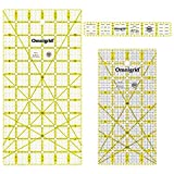 Dritz Rectangle Set-Omnigrid Quilting Ruler, 1'x6', 4'x8' and 6'x12', Clear