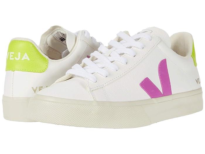 Retro Sneakers, Vintage Tennis Shoes VEJA Campo Extra WhiteUltravioletJaune Fluo Womens Shoes $140.00 AT vintagedancer.com