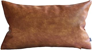 Best cognac leather lumbar pillow Reviews