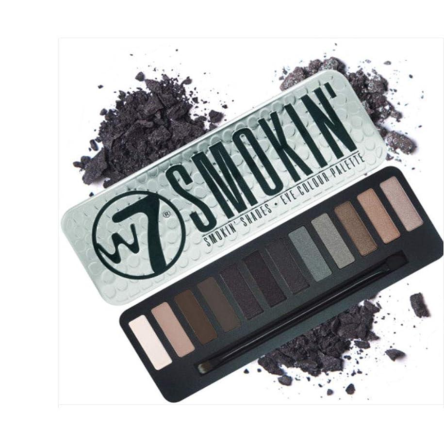 ダルセット霧深い岩W7 Delicious Smokin' Eye Colour Palette英国感性ビューティーブランド実用的なスモーキーメーキャップが可能アイシャドウ内蔵ブラシ付き(海外直送)