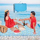 Broadsheet Picnic Blankets 80''x80'', Waterproof Beach Blanket, Foldable Picnic Blankets, Extra Large Picnic Outdoor Blanket, Picnic Mat for Beach, Camping on Grass