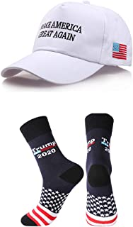 Donald Trump Make America Great Again Hat MAGA USA Cap with 2020 Socks