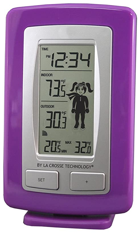La Crosse Technology WS-9782U-IT Wireless Temperature Station with Advanced Weather Girl Icon