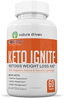 Keto Diet Pills - Weight Loss Pills for Women - Weight Loss Supplement - Enhance Your Diet - Boost Energy Levels - All-Natural Ingredients - One Month Supply (60 Count) - Nature Driven
