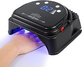 Secador de uñas 64W Lámpara LED UV Profesional con temporizadores profesionales integrados Regulación europea para barnices y geles semi-permanentes,Black
