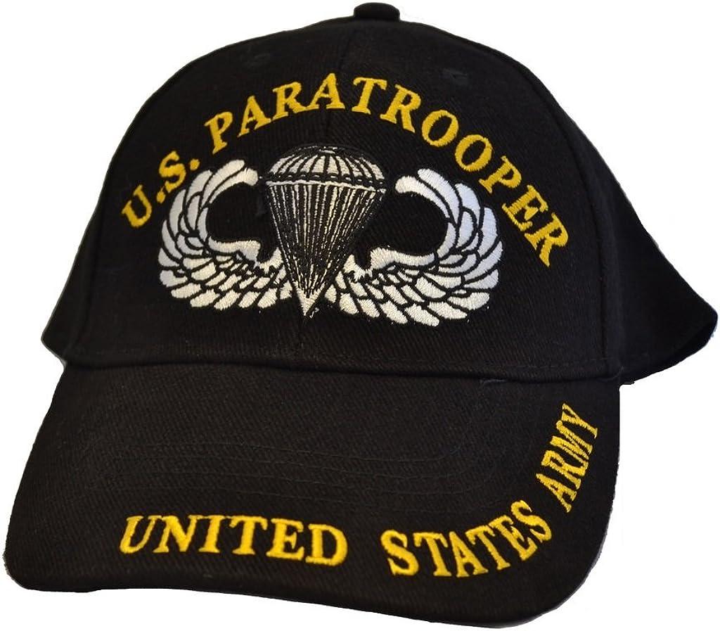 Eagle Emblems Mens US Paratrooper Embroidered Ball Cap Adjustable Black