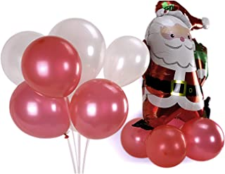 Shimmer and Confetti | 105pc Christmas Red and White Balloons | Balloon Bouquet Kit | Christmas Balloons (Red and White)
