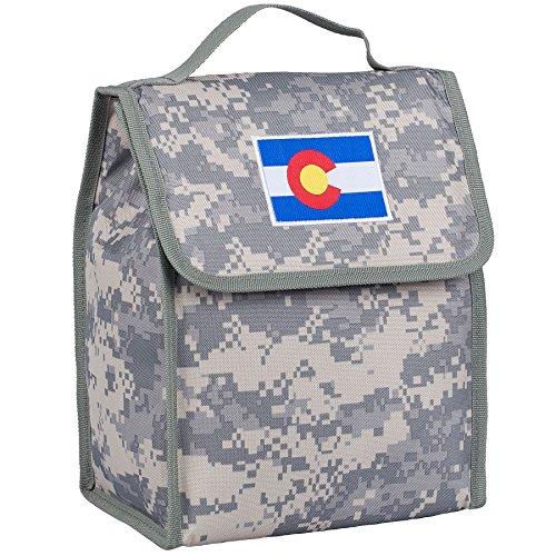 Wildkin - Bolsa de almuerzo con aislamiento para niños y niñas, tamaño perfecto para embalar aperitivos fríos o calientes para la escuela y viajes, bolsas de almuerzo mide 10.0 x 8.5 x 5.0in, sin BPA (camuflaje digital colorado)