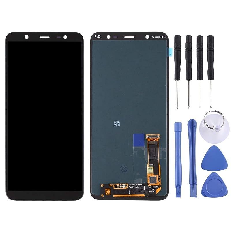 制限彼女膜スクリーン組立 ギャラクシーA6 +(2018)/ A605(ブラック)のための電話交換部品液晶画面とデジタイザのフルアセンブリ Bei (色 : Black)
