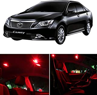 SCITOO LED Interior Lights 14pcs Red Package Kit Accessories Replacement Fits for 2012-2015 Toyota CAMRY