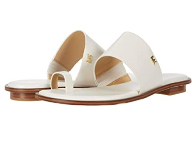 MICHAEL Michael Kors August Flat Sandal (Light Cream) Women