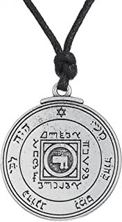 Fishhook Wicca Key of Solomon Seal Ultimate Love Talisman Venus Pentacle Pendant Necklace