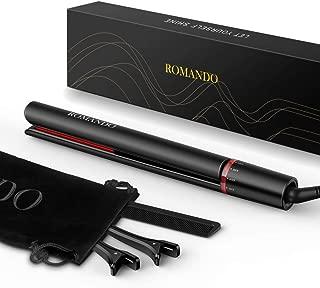 Hair Straightener and Curler 2 in 1, Best Flat Iron for Thick Hair, Hair Iron Straightener Dual Voltage (Black)