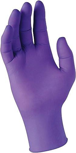 "Kimberly-Clark Purple Nitrile Exam Gloves (55083), Large, 5.9 Mil, Ambidextrous, 9.5"", 100 Nitrile Gloves/Box"