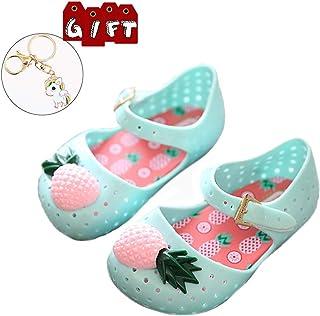 92fd08dc9b10 KISSOURBABY Mini Pineapple Fruit Hole Summer Jelly Children s Shoes Plain  Rain Boot Baby Children Toddler Kids