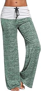 Women's High Rise Yoga Loose Comfy Wide Leg Trousers Pant