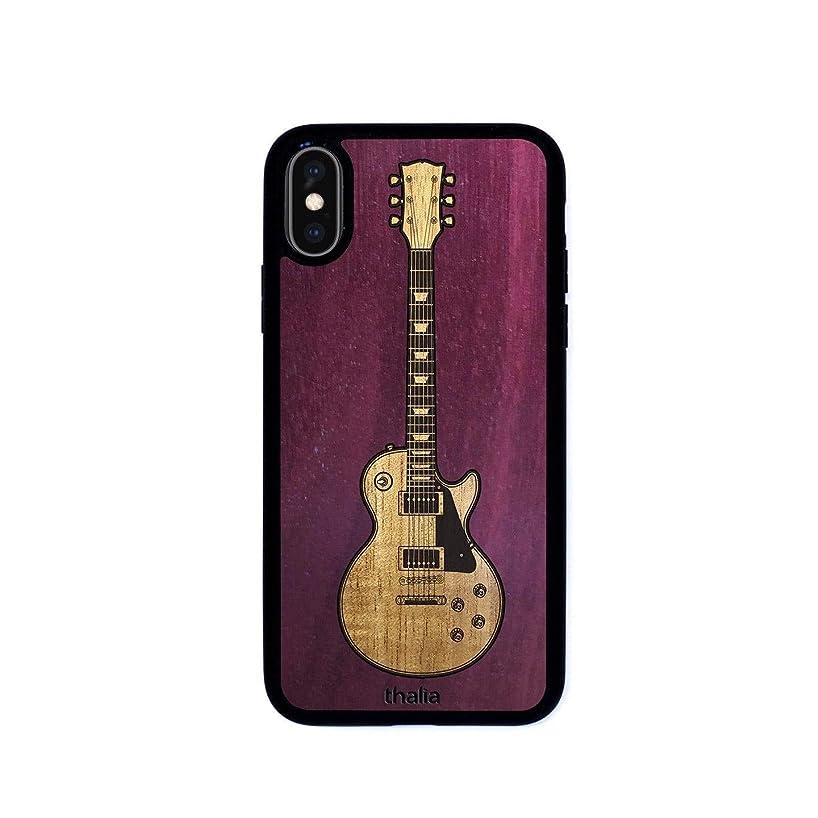 Purpleheart & Les Paul Hawaiian Koa Inlaid Guitar Phone Case | Thalia Exotic Wood Cases iPhone X/XS