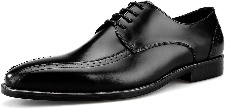 Herren Lederschuhe Herren Lederschuhe Business Formelle Kleidung klassischen britischen Stil Square Head Herrenschuhe (Farbe   Schwarz, gre   EU38 UK5.5)