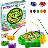 WISHKY Fishing Game Toy Set with Rotating Board| Fishing Toy Includes 15 Fish and 3 Fishing Poles |...