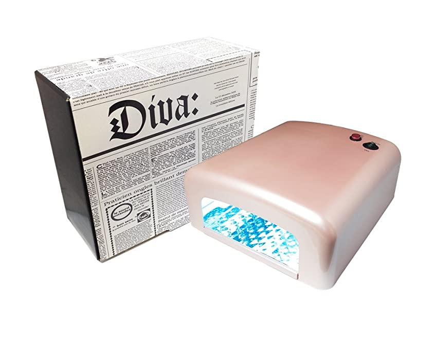 マイクロ縫い目から聞くDiva(ディーヴァ) UVライト36W UVレジン用 本体 パールピンク