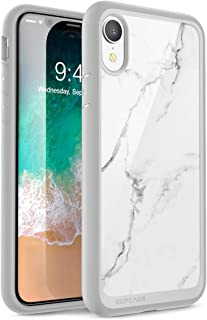 SUPCASE [Unicorn Beetle Style Series] Case for iPhone XR, Premium Hybrid Protective Clear Case for Apple iPhone XR 6.1 inch 2018 Release (Marble)