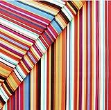 Liegestuhlstoff Outdoorstoff Stoff Breite 45 cm Meterware Streifen Multicolor